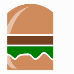 Hamburger Fast Food A Sandwich Small Garden Flag (two Sides) by Nexatart