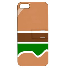 Hamburger Fast Food A Sandwich Apple Iphone 5 Hardshell Case With Stand by Nexatart