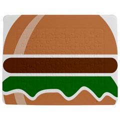 Hamburger Fast Food A Sandwich Jigsaw Puzzle Photo Stand (rectangular)