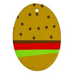 Hamburger Food Fast Food Burger Ornament (oval)