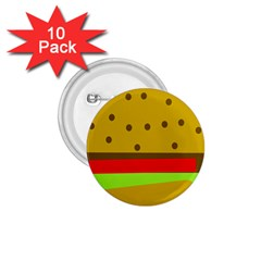 Hamburger Food Fast Food Burger 1 75  Buttons (10 Pack)