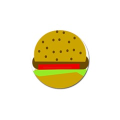 Hamburger Food Fast Food Burger Golf Ball Marker (4 Pack)