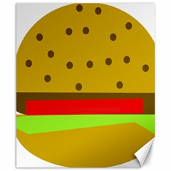 Hamburger Food Fast Food Burger Canvas 8  X 10