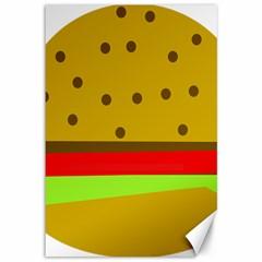 Hamburger Food Fast Food Burger Canvas 12  X 18