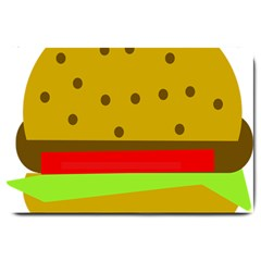 Hamburger Food Fast Food Burger Large Doormat  by Nexatart