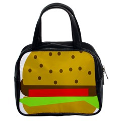 Hamburger Food Fast Food Burger Classic Handbags (2 Sides) by Nexatart