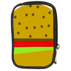 Hamburger Food Fast Food Burger Compact Camera Cases by Nexatart
