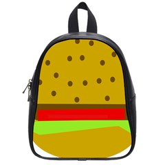 Hamburger Food Fast Food Burger School Bags (small)  by Nexatart