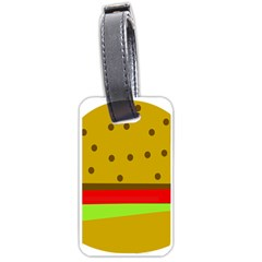 Hamburger Food Fast Food Burger Luggage Tags (one Side)  by Nexatart