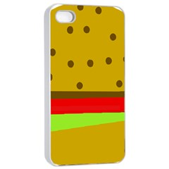 Hamburger Food Fast Food Burger Apple Iphone 4/4s Seamless Case (white) by Nexatart