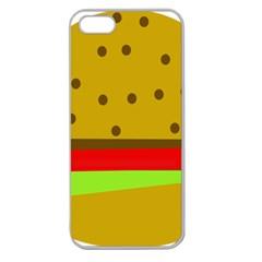 Hamburger Food Fast Food Burger Apple Seamless Iphone 5 Case (clear) by Nexatart