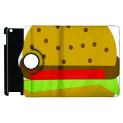 Hamburger Food Fast Food Burger Apple Ipad 2 Flip 360 Case by Nexatart