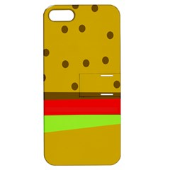 Hamburger Food Fast Food Burger Apple Iphone 5 Hardshell Case With Stand by Nexatart
