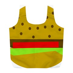 Hamburger Food Fast Food Burger Full Print Recycle Bags (l)