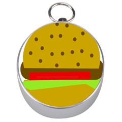 Hamburger Food Fast Food Burger Silver Compasses