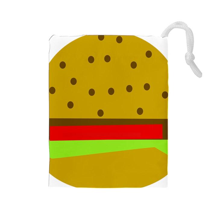 Hamburger Food Fast Food Burger Drawstring Pouches (Large)