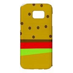 Hamburger Food Fast Food Burger Samsung Galaxy S7 Edge Hardshell Case by Nexatart