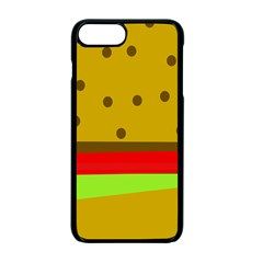 Hamburger Food Fast Food Burger Apple Iphone 7 Plus Seamless Case (black) by Nexatart