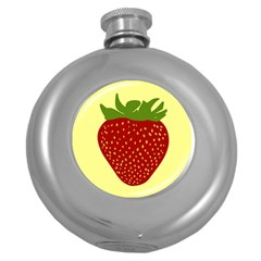 Nature Deserts Objects Isolated Round Hip Flask (5 Oz)
