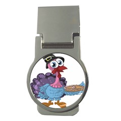 Turkey Animal Pie Tongue Feathers Money Clips (round)