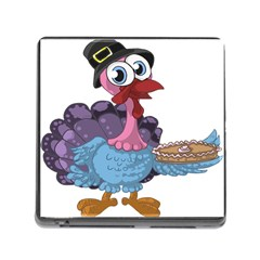 Turkey Animal Pie Tongue Feathers Memory Card Reader (square)