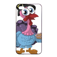 Turkey Animal Pie Tongue Feathers Apple Iphone 4/4s Seamless Case (black) by Nexatart