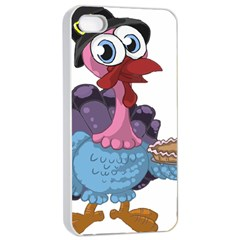 Turkey Animal Pie Tongue Feathers Apple Iphone 4/4s Seamless Case (white) by Nexatart