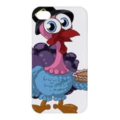 Turkey Animal Pie Tongue Feathers Apple Iphone 4/4s Hardshell Case by Nexatart