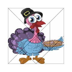 Turkey Animal Pie Tongue Feathers Acrylic Tangram Puzzle (6  X 6 ) by Nexatart
