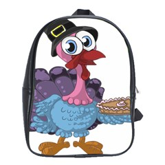 Turkey Animal Pie Tongue Feathers School Bags (xl)  by Nexatart