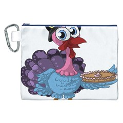 Turkey Animal Pie Tongue Feathers Canvas Cosmetic Bag (xxl) by Nexatart