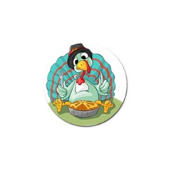 Pie Turkey Eating Fork Knife Hat Golf Ball Marker (10 Pack) by Nexatart