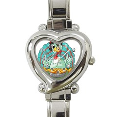 Pie Turkey Eating Fork Knife Hat Heart Italian Charm Watch