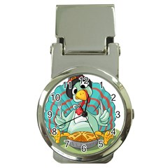 Pie Turkey Eating Fork Knife Hat Money Clip Watches by Nexatart