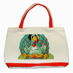 Pie Turkey Eating Fork Knife Hat Classic Tote Bag (red) by Nexatart