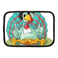 Pie Turkey Eating Fork Knife Hat Netbook Case (medium)