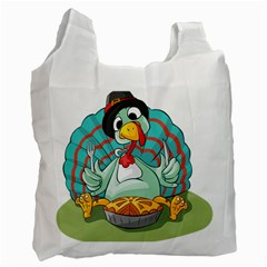Pie Turkey Eating Fork Knife Hat Recycle Bag (two Side)