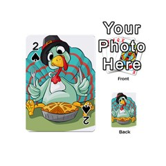 Pie Turkey Eating Fork Knife Hat Playing Cards 54 (mini)  by Nexatart