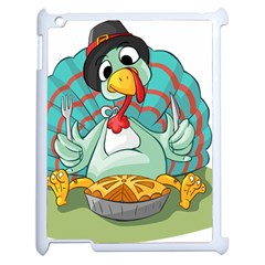 Pie Turkey Eating Fork Knife Hat Apple Ipad 2 Case (white) by Nexatart