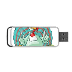Pie Turkey Eating Fork Knife Hat Portable Usb Flash (two Sides) by Nexatart