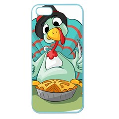 Pie Turkey Eating Fork Knife Hat Apple Seamless Iphone 5 Case (color)