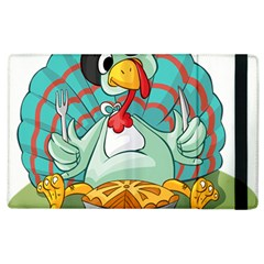 Pie Turkey Eating Fork Knife Hat Apple Ipad 3/4 Flip Case by Nexatart