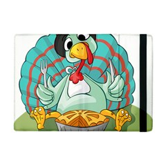 Pie Turkey Eating Fork Knife Hat Apple Ipad Mini Flip Case by Nexatart