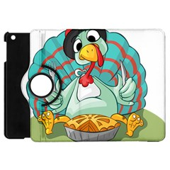Pie Turkey Eating Fork Knife Hat Apple Ipad Mini Flip 360 Case by Nexatart