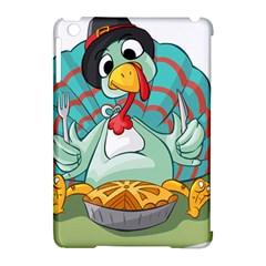 Pie Turkey Eating Fork Knife Hat Apple Ipad Mini Hardshell Case (compatible With Smart Cover) by Nexatart