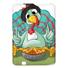 Pie Turkey Eating Fork Knife Hat Kindle Fire Hd 8 9  by Nexatart