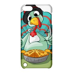 Pie Turkey Eating Fork Knife Hat Apple Ipod Touch 5 Hardshell Case With Stand by Nexatart
