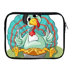 Pie Turkey Eating Fork Knife Hat Apple Ipad 2/3/4 Zipper Cases by Nexatart