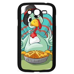 Pie Turkey Eating Fork Knife Hat Samsung Galaxy Grand Duos I9082 Case (black) by Nexatart