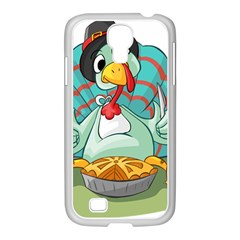 Pie Turkey Eating Fork Knife Hat Samsung Galaxy S4 I9500/ I9505 Case (white) by Nexatart